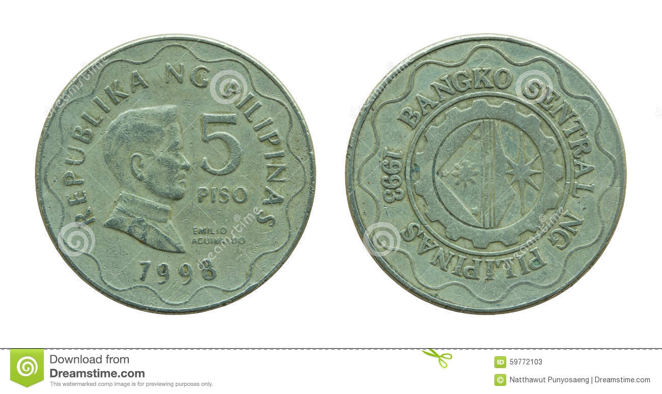Coin clipart 5 peso Five Coins 1 collection Philippine