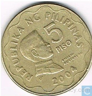 Coin clipart 5 peso Peso Of 2004 Of Philippines