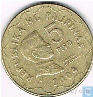 Coin clipart 5 peso Peso Of 2004 Of 5