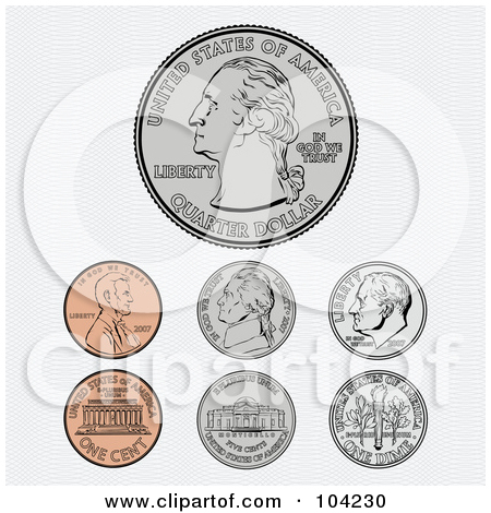 Coin clipart american coin By money Coins Illustration coin