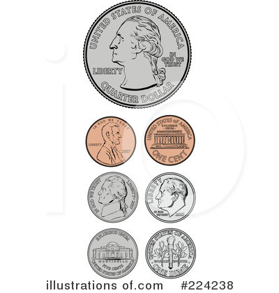 Coin clipart american coin By Collection Coins Illustration Math