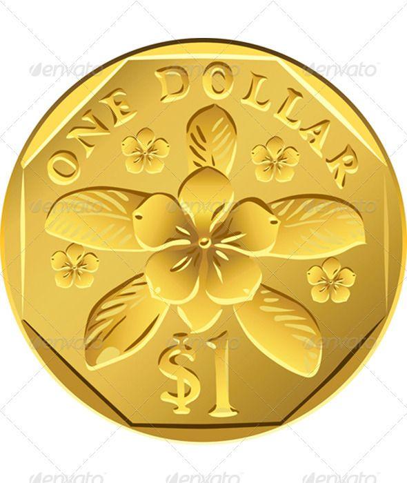 Coin clipart australian dollar Best Singapore Money one Pinterest