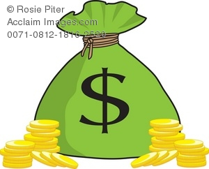 Coin clipart bag gold coin Royalty With Bag Illustration Money