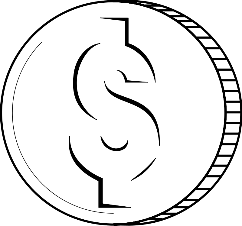 Coin clipart black and white Images And Art White Black