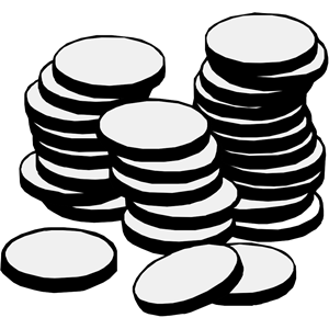 Coin clipart black and white Stack COINS STACK clipart clipart