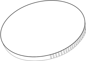 Coin clipart black and white White and Black white coin