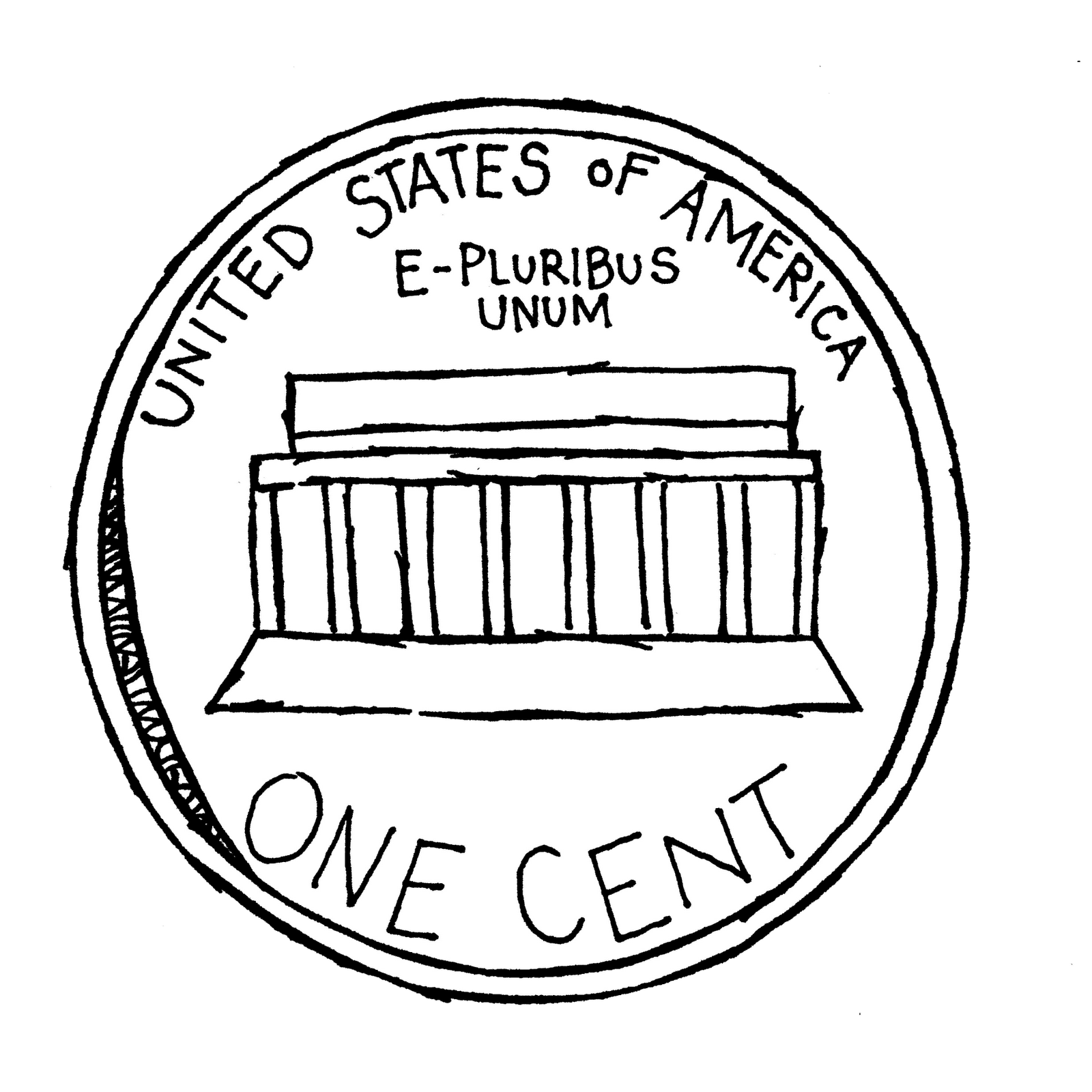 Coin clipart black and white Black White and Clipart Coin