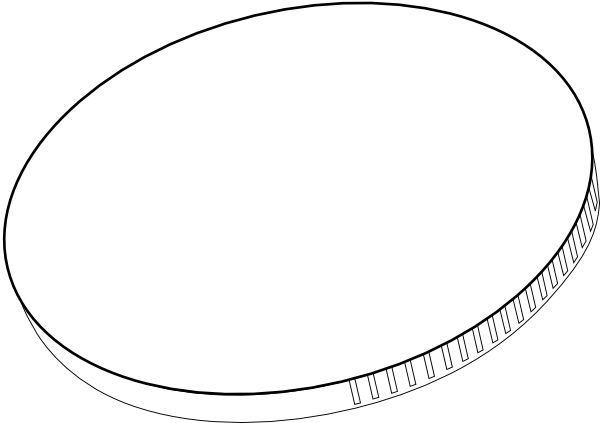 Coin clipart blank coin  Black vector Clip com