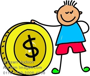 Coin clipart boy with Art Clip Coin Clip Images