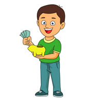 Coin clipart boy with Search clipart bank coin Cartoons