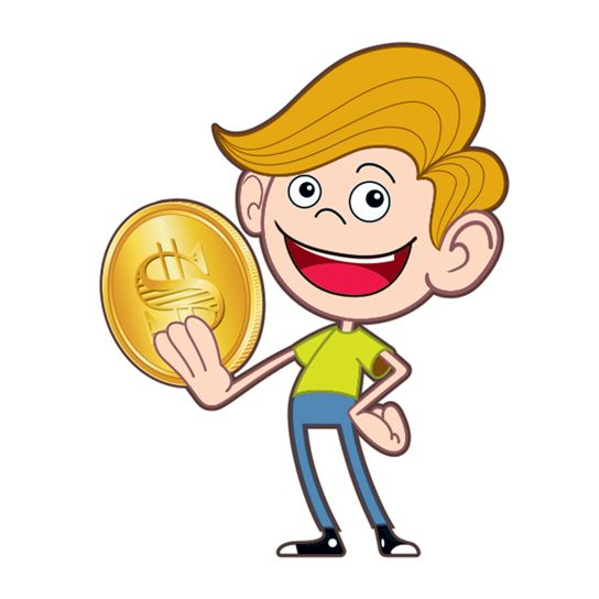 Coin clipart boy with Boy Coin Gold Boy Coin