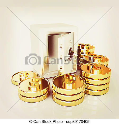 Coin clipart bunch Coins bank Stock gold white
