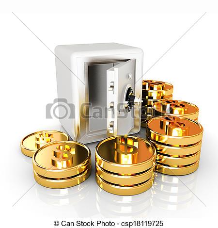 Coin clipart bunch Vault a of bank Art