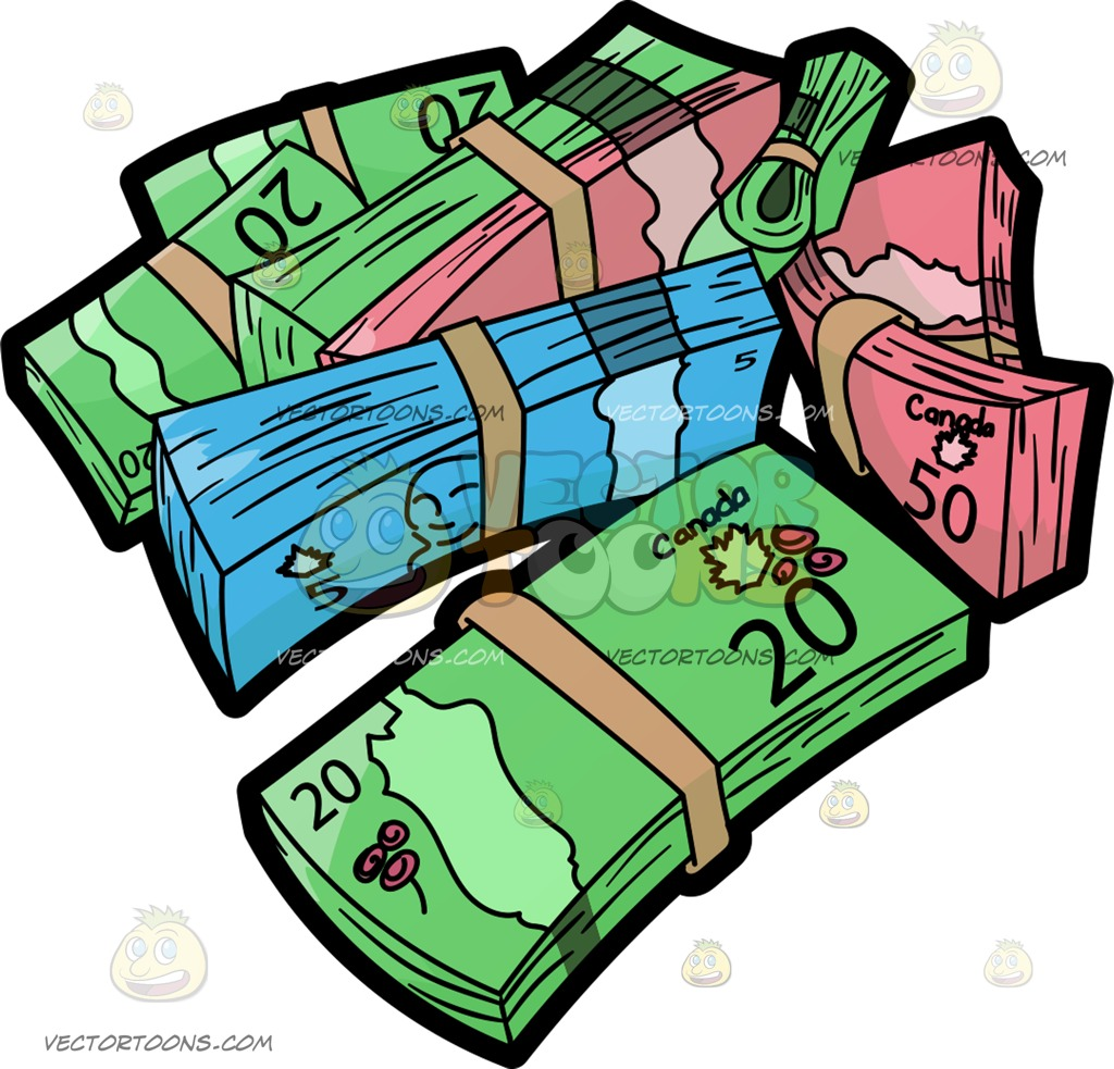 Coin clipart canadian dollar Bunch Green Of Canadian Sack