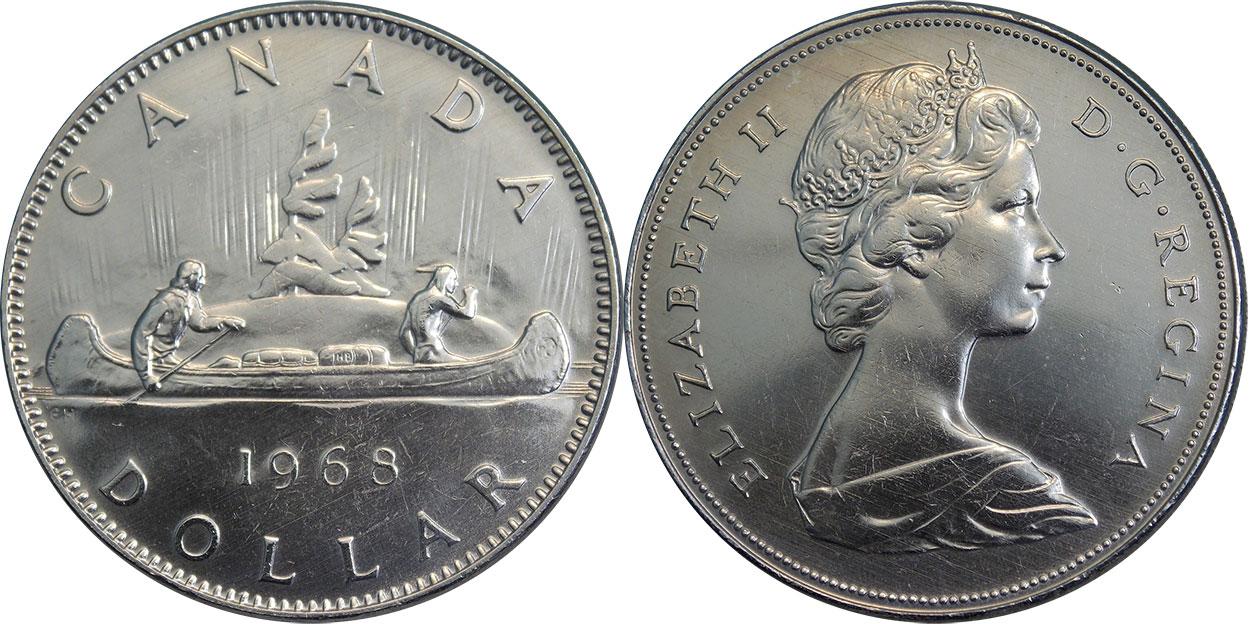Coin clipart canadian dollar And dollar Canada 1968