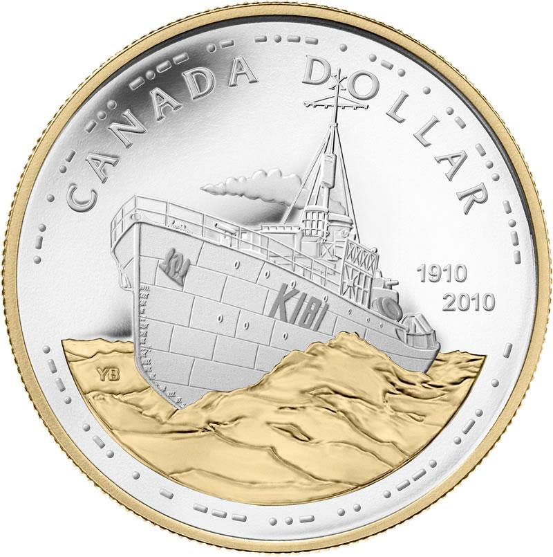 Coin clipart canadian dollar Silver Canadian Dollar Navy
