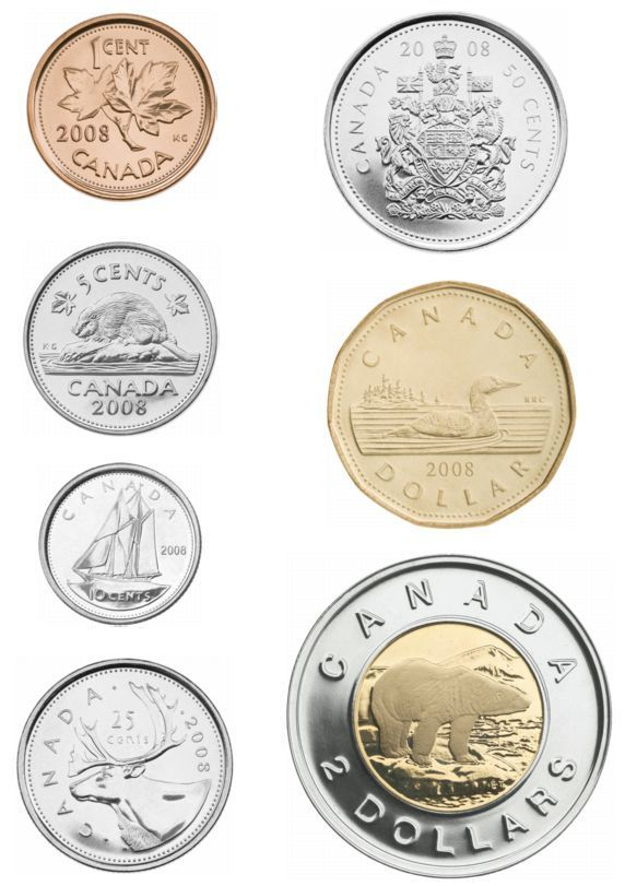 Coin clipart canadian dollar Kids money canadian clipart for