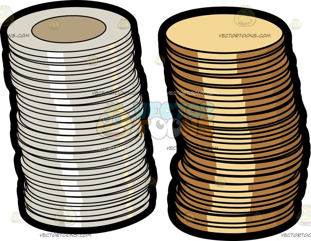 Coin clipart canadian dollar And  Of Two Coins