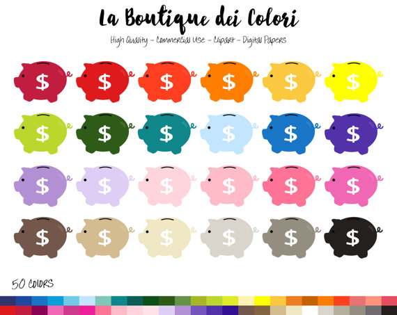 Coin clipart cute On PNG Rainbow Save 50