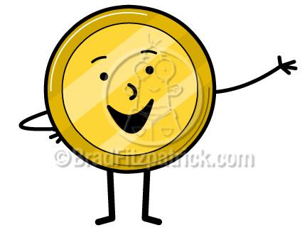 Coin clipart cute Clipart Coin Cartoon Cartoon Clip
