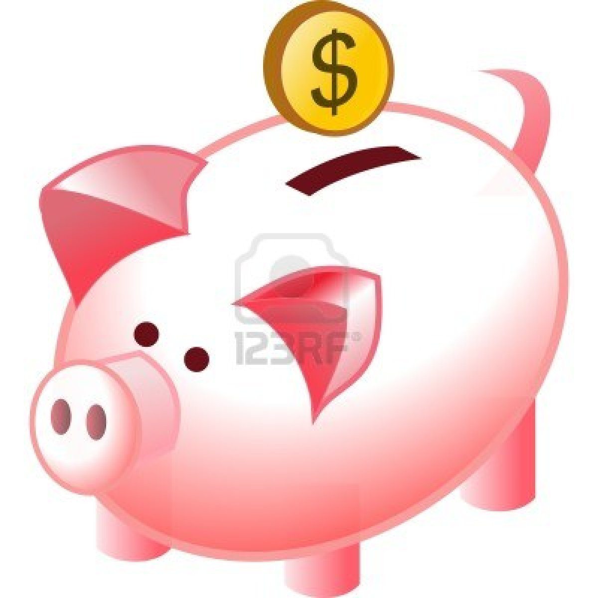 Coin clipart cute Piggy Clipart With With Coin