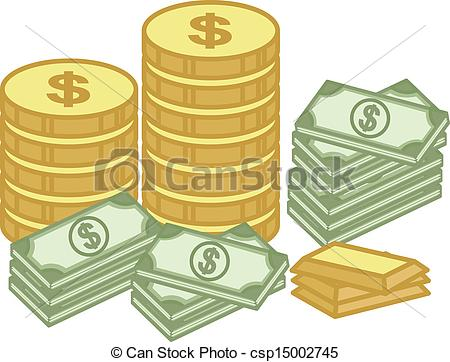 Coin clipart dinero Of Gold Cash of Cash