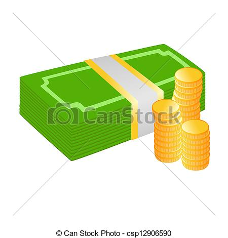 Coin clipart dinero Bills bills and Vector coins