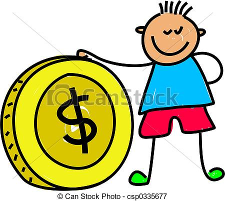 Coin clipart dinero Boy money kid Stock holding