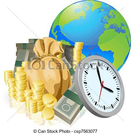Coin clipart dinero Of globe World Vector globe