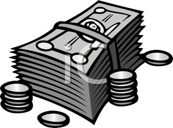 Coin clipart dollar bill Collection Of Black clipart white