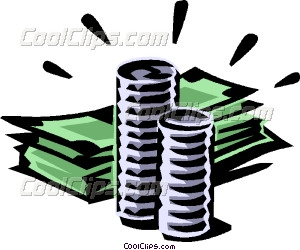Coin clipart dollar bill Art bills dollar and Clip