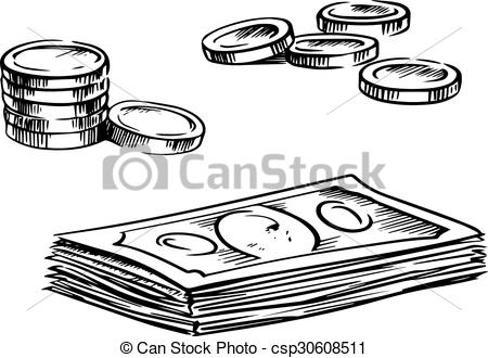 Coin clipart dollar bill Art and dollar bills of