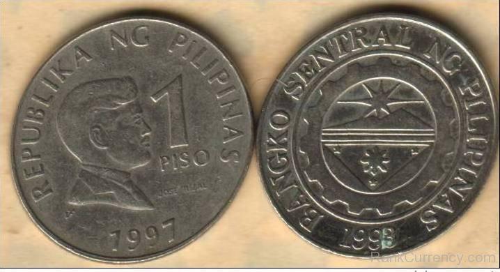 Coin clipart filipino Coin Of peso 1 Philippines