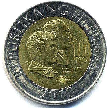 Coin clipart filipino Coin peso WikiVisually Template:Philippine ten