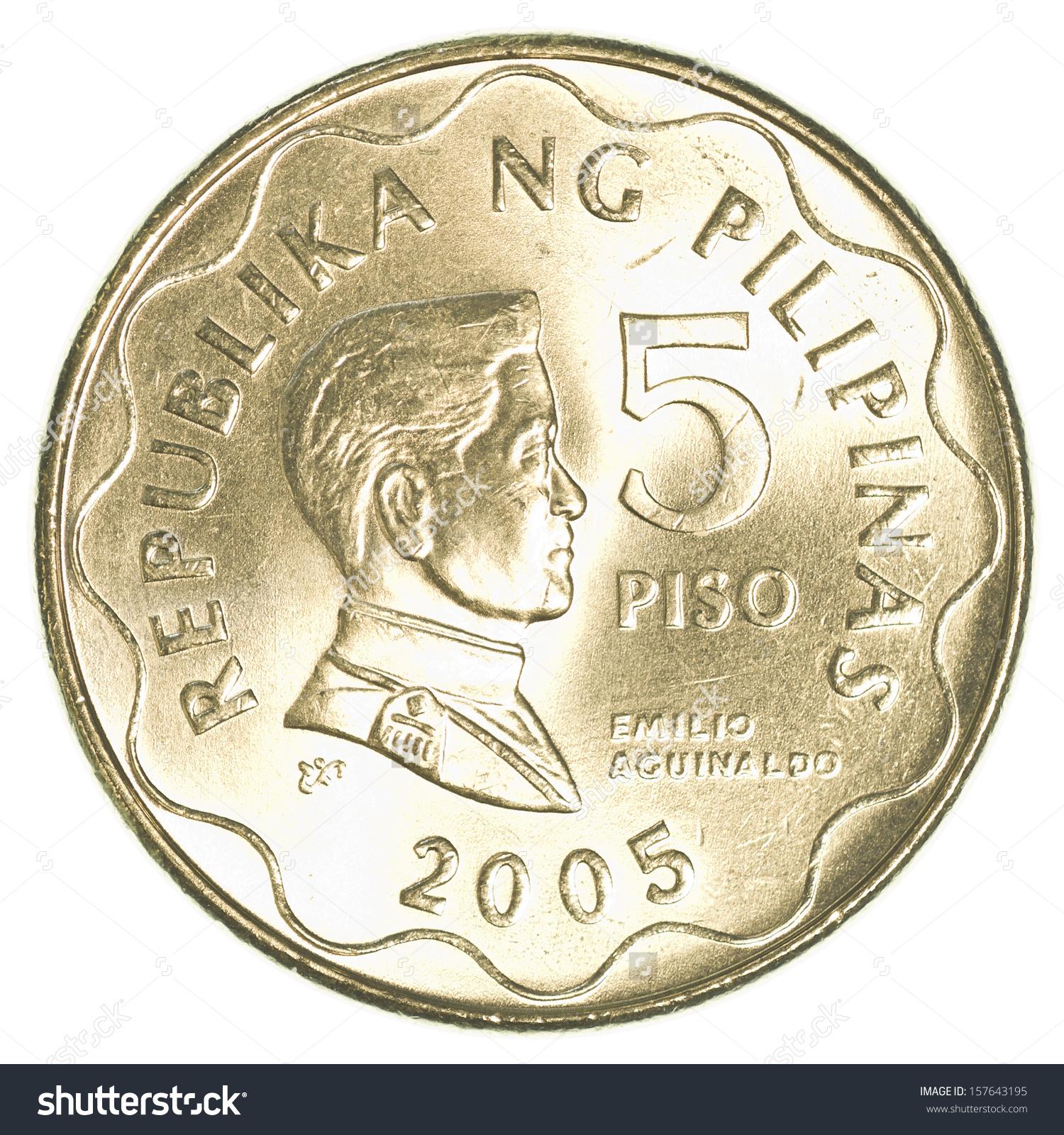 Coin clipart filipino Peso Coin peso 1 Isolated