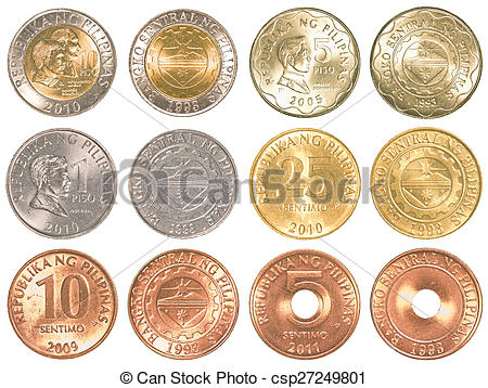 Coin clipart filipino Coins Philippines set peso and