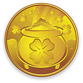 Coin clipart gold token Golden Coin Art GoGraph shield