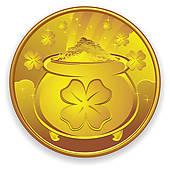 Coin clipart gold token Coin Free shield Lucky Cartoon
