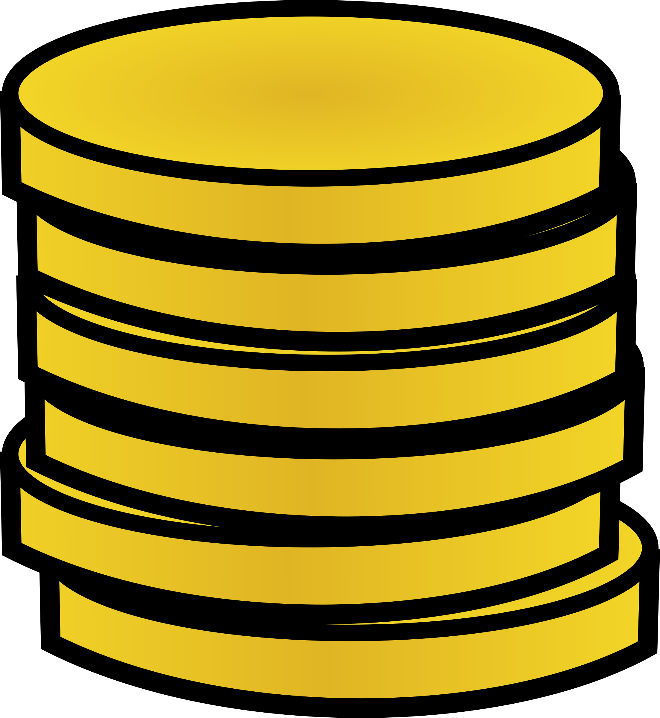 Coin clipart gold token Stack Stack of gold Clipart
