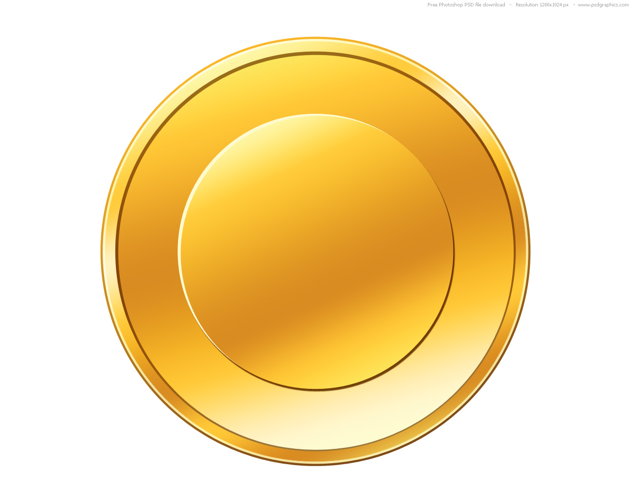 Coin clipart gold token Empty gold gold coin PSD
