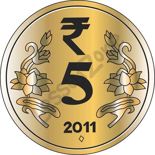 Coin clipart indian coin AU ₹5 Lesson India Coin