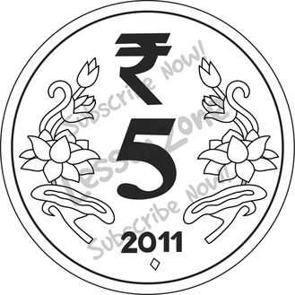 Coin clipart indian coin ₹5 collection India hd Zone