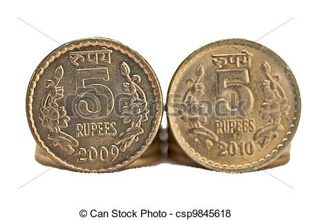 Coin clipart indian coin Copy Indian Coin isolated 5