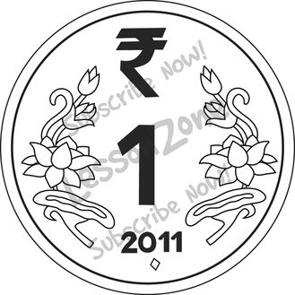 Coin clipart indian coin B&W Coin India 113454Z01_Clipart_India_1_Rupee_Coin_BW01 Zone