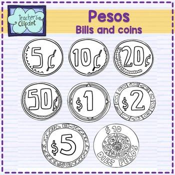 Coin clipart money peso PESOS MEXICAN by Clipart PESOS