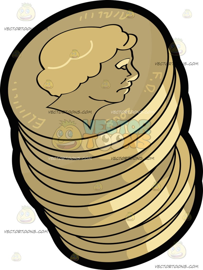 Coin clipart money pound British Stack Cartoon Pound