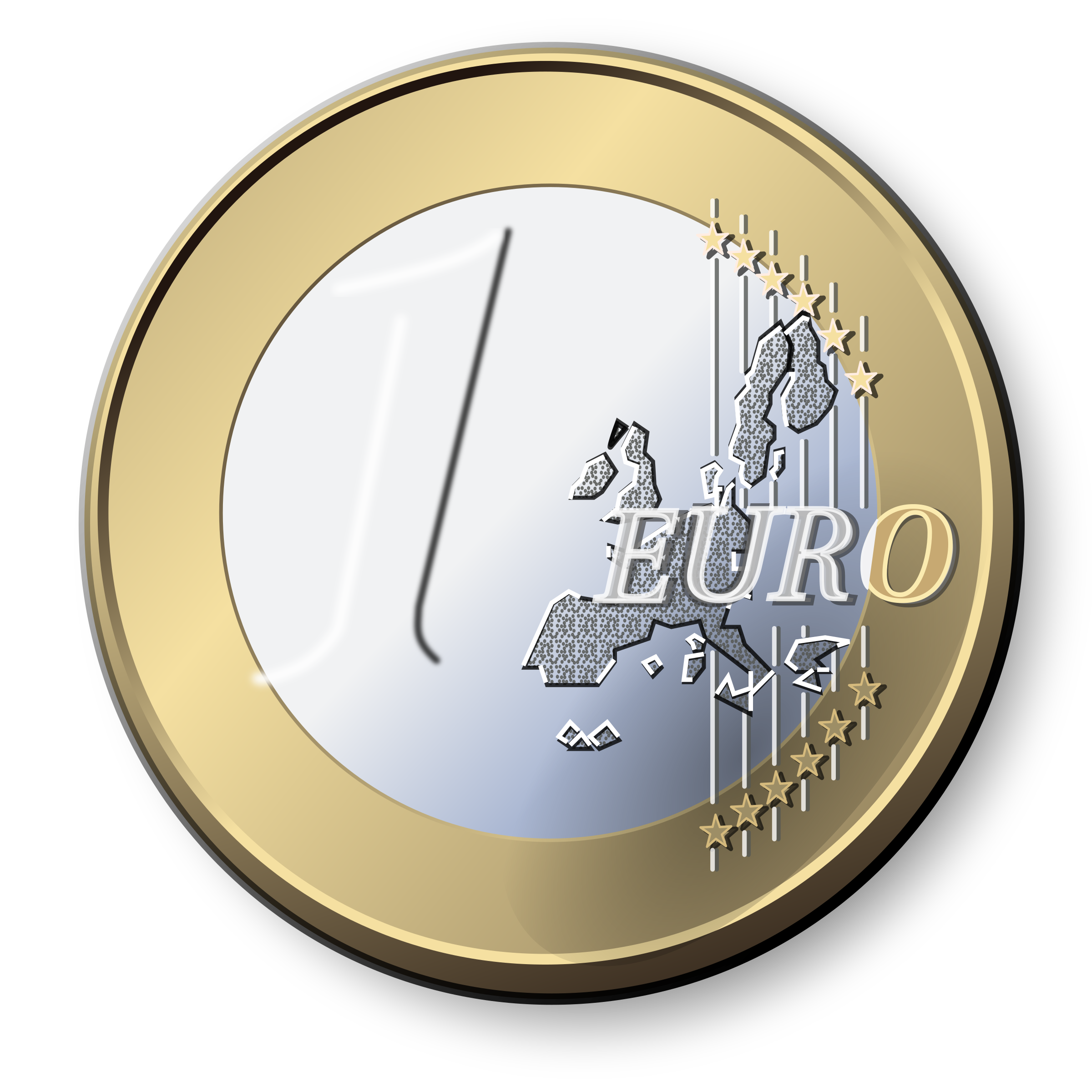 Coin clipart one One Coin Coin Clipart Euro