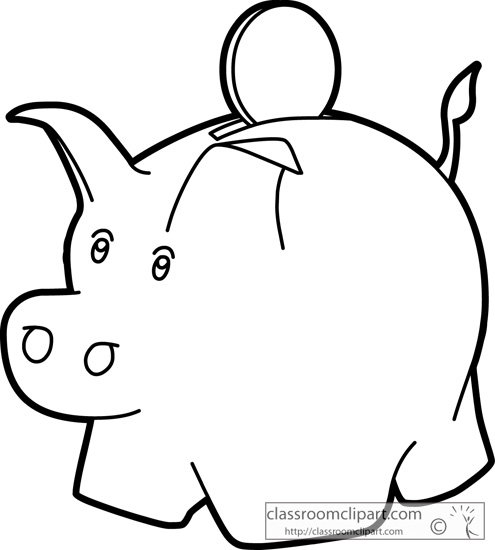Coin clipart outline Clipart And White Black Images