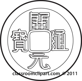 Coin clipart outline Collection Coin outline tang art