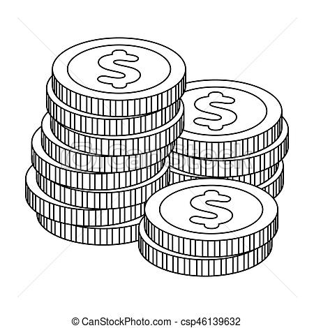 Coin clipart outline Reckoning Kasino reckoning in